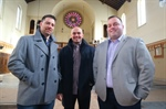 Peter Scarcello '01 and John Otto '00 answer important call